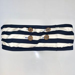 Juicy Couture Sailor Strapless bikini top, small!